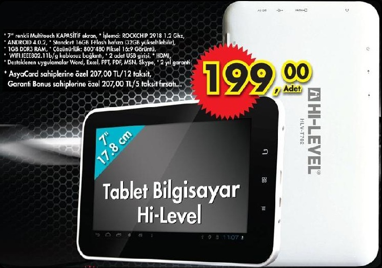 Hi-Level T702 Tablet